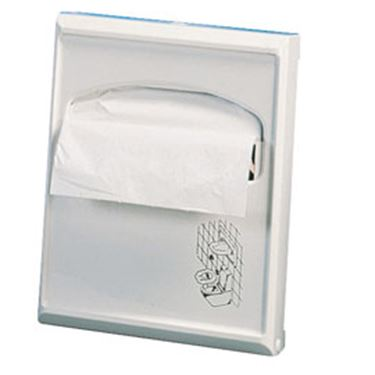 Immagine di Dispenser per carta copriwater Mini - 23x5,5x29,5 cm - bianco - Mar Plast