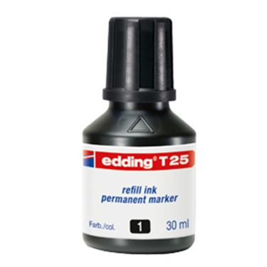 Picture of Ricarica inchiostro permanente 30ml t25 nero edding