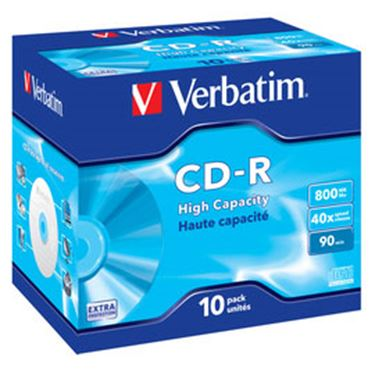Immagine di Verbatim - CD-R - datalife jewel case 1x/40x 800mb serigrafato - Conf. da 10 cd