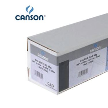 Picture of Carta inkjet plotter 59,4x84,1cm (A1) 90gr 125fg opaca cad canson