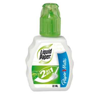 Immagine di Correttore liquid paper 2in1 22ml papermate