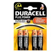Picture of Blister 4 pile duracell plus (mn1500) aa - stilo