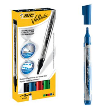 Immagine di Astuccio 4 marcatori p.tonda whiteboard velleda® liquid ink pocket bic®