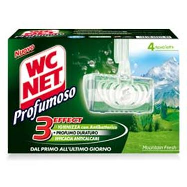 Immagine di Tavoletta Profumoso Mountain Fresh - WC Net - 4 gabbiette da 34 gr