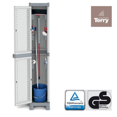 Immagine di Armadio Domino Wave - ppl - a 1 anta - base 2350 - L35xP43,8cm - H181,8cm - Terry