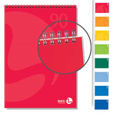 Immagine di Blocco notes spiralato lato corto 210x297mm 90gr 50fg 5mm color bm