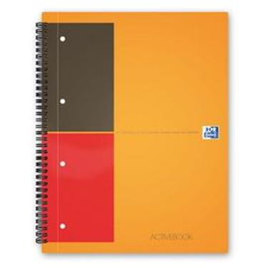 Immagine di Maxi spiralato 240x297mm 1rigo 80gr 80fg activebook international oxford