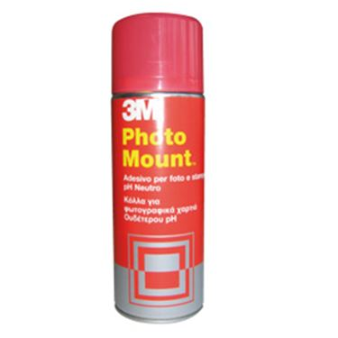 Immagine di Adesivo Spray Photo Mount™ - per foto - 400 ml - trasparente - 3M