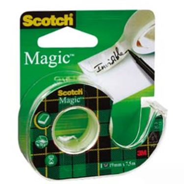 Immagine di Nastro adesivo Scotch® Magic™ 810 con chiocciola - 19 mm x 7,5 mt - trasparente - Scotch®