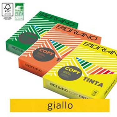 Picture of Carta copy tinta A3 160gr 125fg col.forti giallo fabriano
