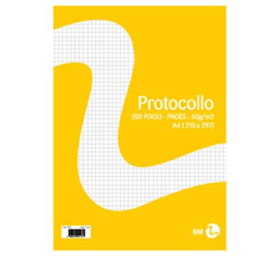 Picture of Fogli protocollo A4 60gr 20fg 5mm bm