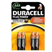 Picture of Blister 4 pile duracell plus (mn2400) aaa - ministilo