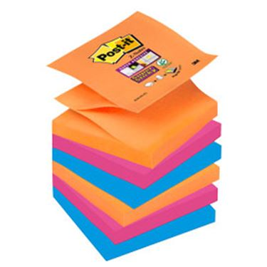 Immagine di Blocchetto Post it® Super Sticky Z Notes - colorati - 76 x 76mm - 90 fogli - Post it®
