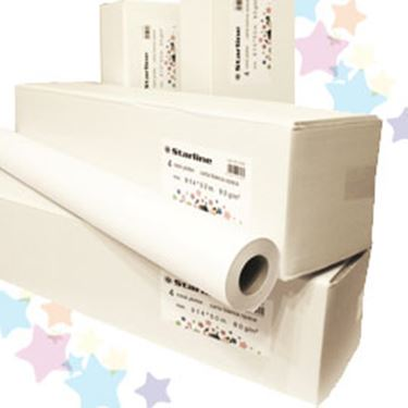 Immagine di Carta plotter - stampa inkjet - 610 mm x 50 mt - 80 gr - opaca - bianco - Starline