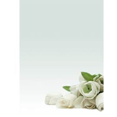"""Picture of CARTA CON STAMPA """"ROSA BIANCA'"""" A4 90GR 20FG DECADRY"""