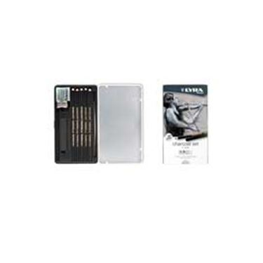 Picture of Astuccio metallo assortimento rembrant charcoal set lyra