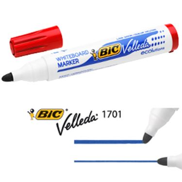 Picture of Marcatore p.tonda 1.5mm rosso whiteboard velleda® 1701 recycled bic®