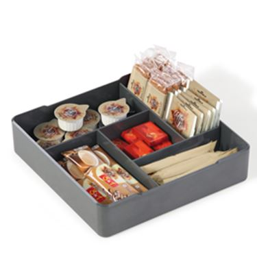 Immagine di Organizer da tavolo Coffee Point - 4,8x21x21 cm - ABS - grigio carbone - Durable