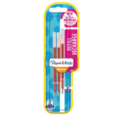 Immagine di Blister 3 refill inkjoy gel 0,7mm rosso papermate