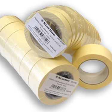 Immagine di Nastro adesivo in carta - 25 mm x 50 m - beige - Starline