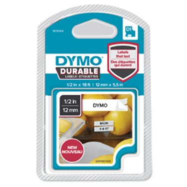 Picture of Nastro dymo tipo d1 durable (12mmx5.5mt) nero/bianco 1978364