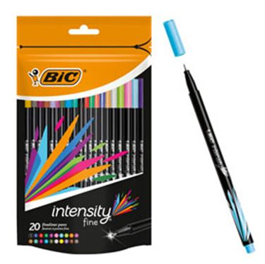 Immagine di ASTUCCIO 20 FINELINER INTENSITY 0,8MM COLORI ASSORTITI BIC