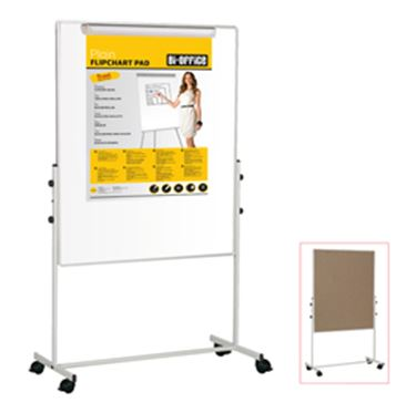 Immagine di LAVAGNA DUO A DOPPIA SUPERFICIE 100X100CM BI-OFFICE