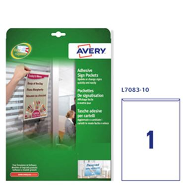 Picture of CONF. 10 TASCHE ADESIVE A4-21X29,7CM L7083 AVERY