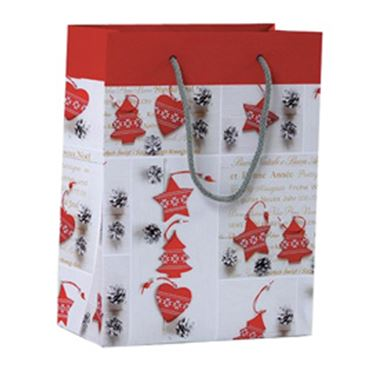 Immagine di SHOPPER REGALO SHABBY CHIC CHRISTMAS 23X30X10CM KARTOS