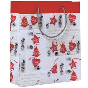 Immagine di SHOPPER REGALO SHABBY CHIC CHRISTMAS 30X36X12CM KARTOS
