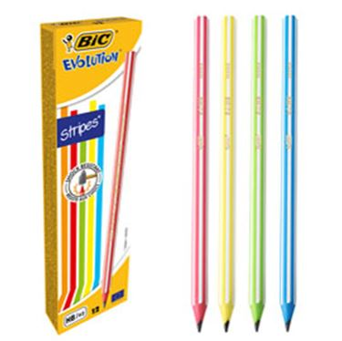 Immagine di SCATOLA 12 MATITE EVOLUTION STRIPES BIC