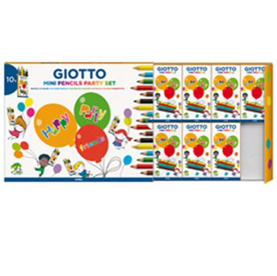 Immagine di Set 10 astucci da 6 mini matite colorate - party gifts - Giotto